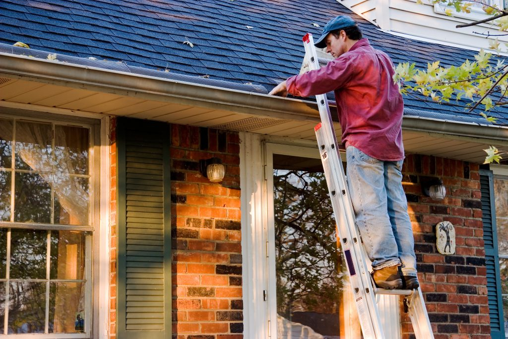 Your ladder is your stronghold when cleaning gutters